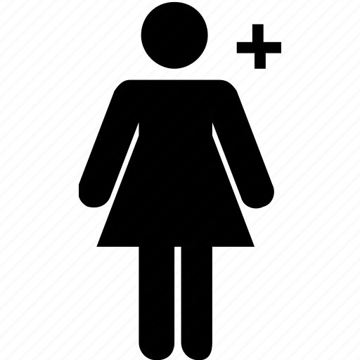 add, female, plus, profile, user icon