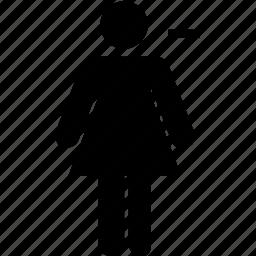 female, subtract icon