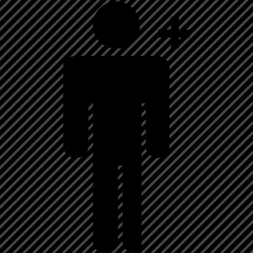 add, infographics, male, man, plus, profile, user icon