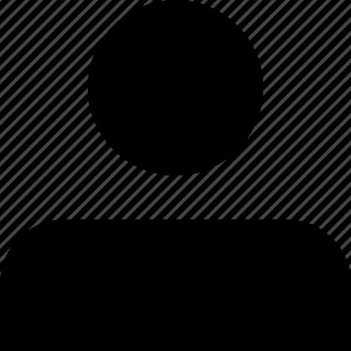 account, male, person, profile, single, user icon