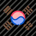 country, flag, korea, map, national, south