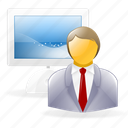 account, administrator, business, human, male, man, profile, user, users icon