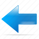 arrow, back, left, previous, return icon