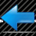 back, arrow, left, previous, return