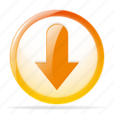 arrow, arrows, down, download, downloads icon