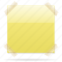 copy, document, note, paste, sticky note icon