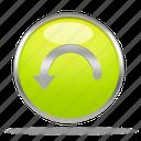 back, restore, reverse, revert, rollback, rotate, undo icon