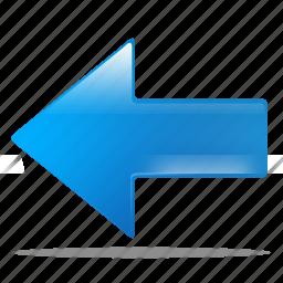 arrow, back, left, previous, return icon