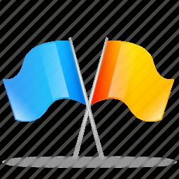 flag, marker, pin, tag, tagger icon