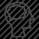 brain, mind, intelligence, head, organ, human, man