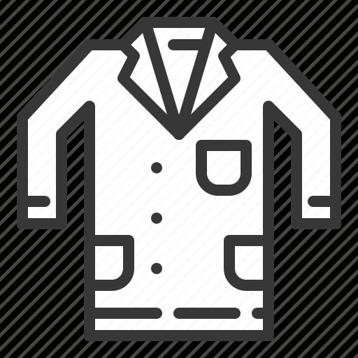 chemistry, equipment, lab, lab coat, laboratory, science, shirt icon