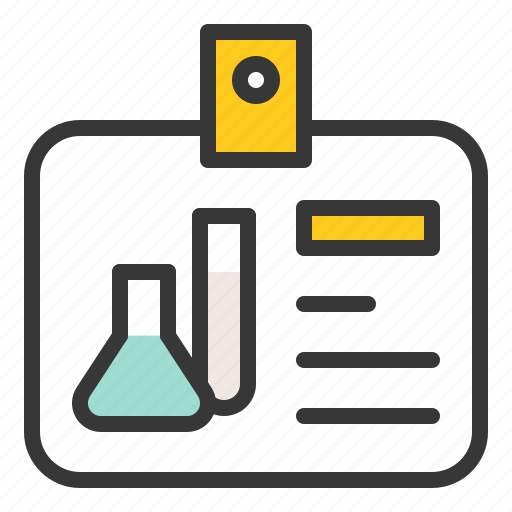 card, chemistry, equipment, lab, laboratory, science icon