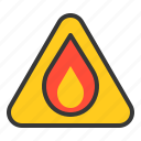 caution, chemistry, flammable, lab, laboratory, science, sign icon