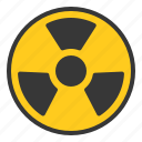 chemistry, lab, laboratory, radioactive, science, sign, warning icon