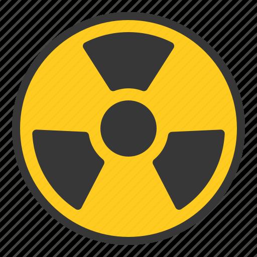 chemistry, lab, laboratory, radioactive, science, sign, warning icon