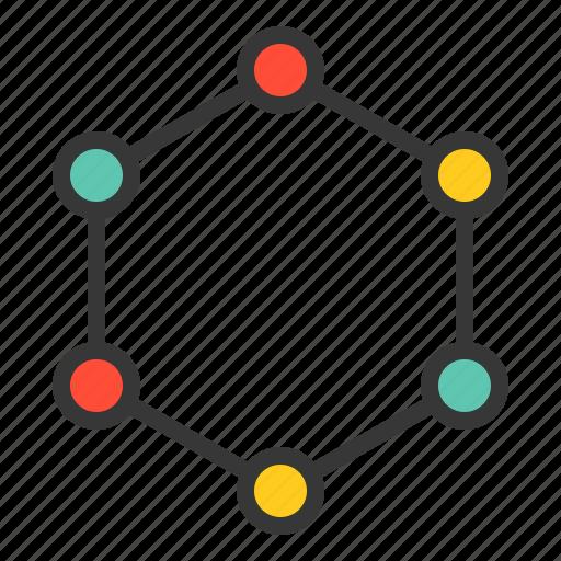 benzene, chemistry, equipment, lab, laboratory, science icon