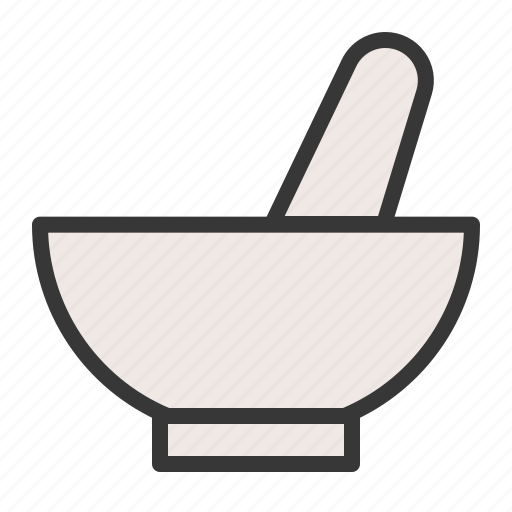 bowl, chemistry, equipment, lab, laboratory, mortar, science icon