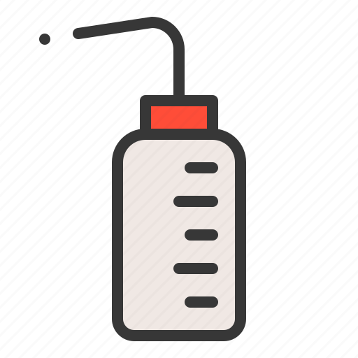 chemistry, equipment, lab, laboratory, science, wash bottle icon