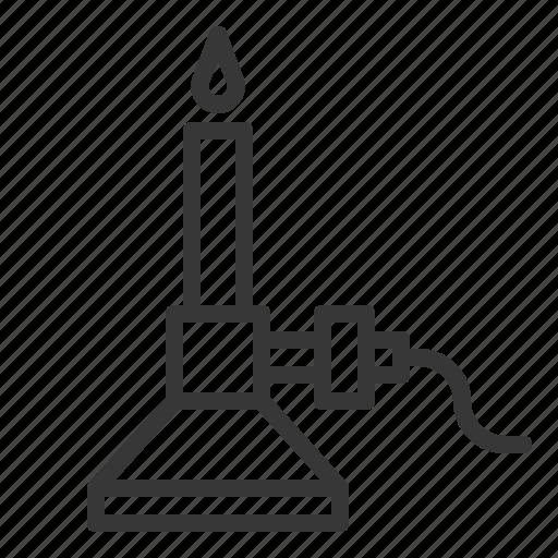 bunsen burner, burner, chemistry, equipment, lab, laboratory, science icon