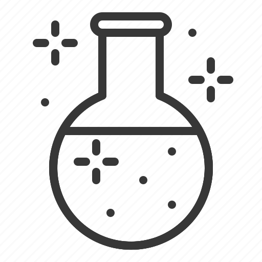 chemecal reaction, chemistry, equipment, flask, lab, laboratory, science icon