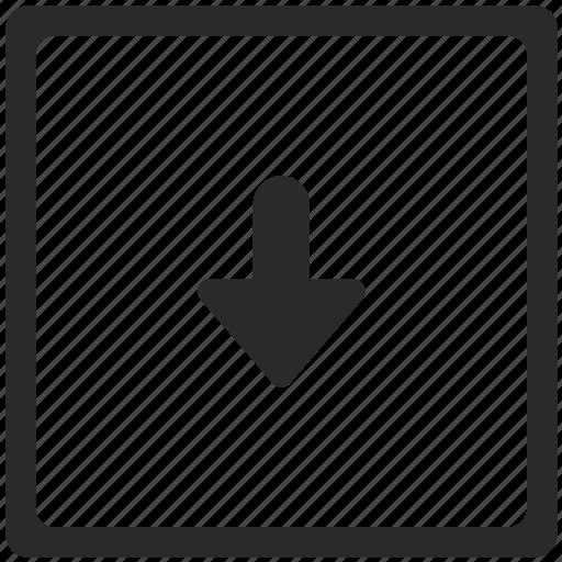 arrow, bottom, key, navigation icon
