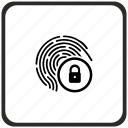 lock, biometry, finger, dactyl icon