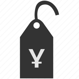 clothes, clothing, jpy, label, price, tag, yen icon