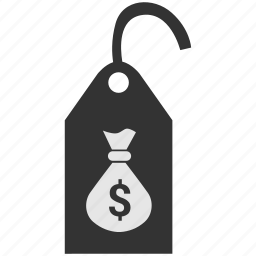 clothes, clothing, dollar, label, price, tag icon