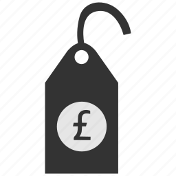 clothes, clothing, label, pound, price, tag icon