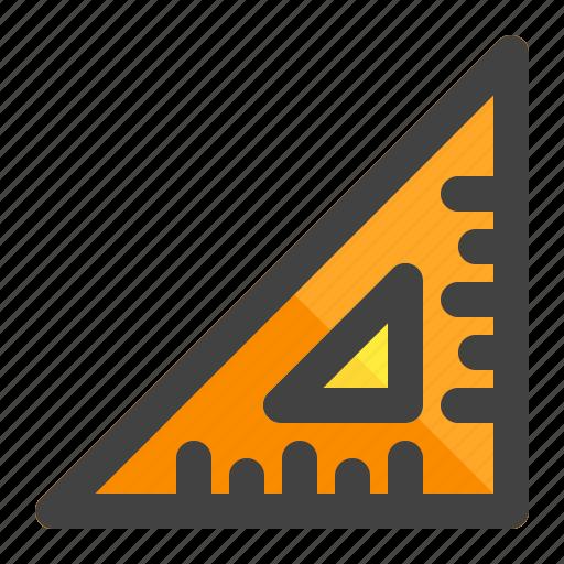 building, construction, labor, measure, measurement, ruler, tool icon