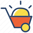 handcart, project, worker icon