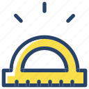 project, ruller, tools icon