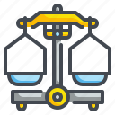 balance, education, lab, law, scale, scales, science icon