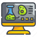 computer, electronic, lab, laptop, monitor, science, technology icon