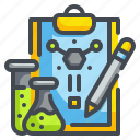 chemical, document, drug, file, flask, laboratory, research icon