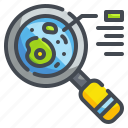 bacteria, lab, magnifier, search, tool, zoom icon