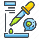 chemistry, lab, pipette, science, tools, volumetric, wellness icon