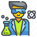 chemical, lab, laboratory, occupation, people, professions, scientist icon