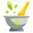 chemical, grinding, herbal, lab, medicine, mortar, pestle icon