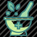 chemical, grinding, herbal, lab, medicine, mortar, pestle