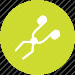 crucible, equipment, lab, tongs icon