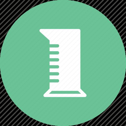 cylinder, graduated, volume, volumetric icon