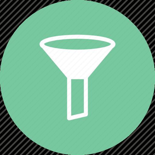 equipment, funnel, lab, laboratory, stemmed icon