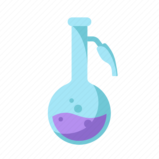 education, flask, laboratory, science icon