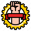 hand, labour, powerful, strong, tool icon