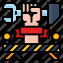 construction, labour, stop, under icon