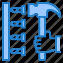construction, hammer, nail, repair, tools
