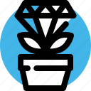 asset, diamond, gem, growth, valuables, wealth, wealthy icon
