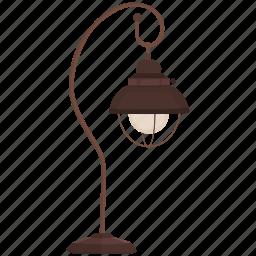 bedroom lamp, bright, lamp, light, shine, small lamp, table lamp icon