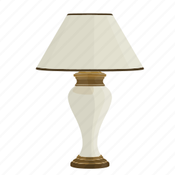 bedroom lamp, bright, lamp, light, shine, small lamp, table lamp icon